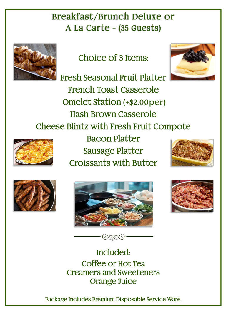 Breakfast & Brunch Deluxe Catering Menu